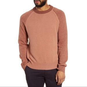 Club Monaco $150 Wool Garment Dyed Sweater Mauve